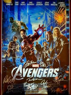 Marvel Vingadores 90x60 Autografado Ñ Sideshow Iron Studios