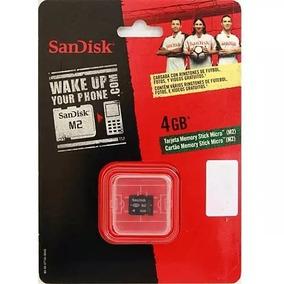 Cartão De Memória 4 Gb Memory Stick Micro-m2 Sandisk