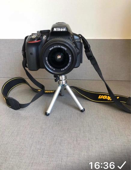 Câmera Nikon D5300 + Lente Nikon 18-55mm
