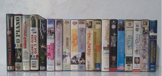 Lote Com 19 Filmes Vhs De Comédia Romantica E Drama