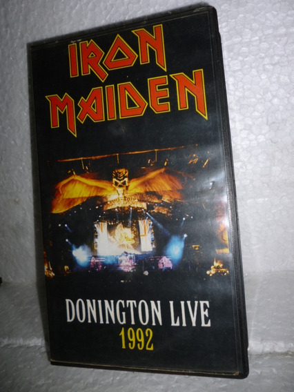 Vhs Iron Maiden - Donington Live 1992 - 1993 Br