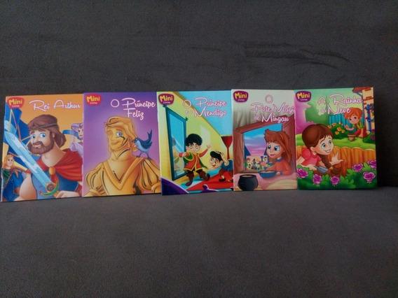 Kit 5 Mini Livros - Histórias Clássicas Infantis