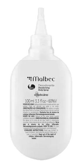 Refil Malbec Desodorante Body Spray, 100ml O Boticário