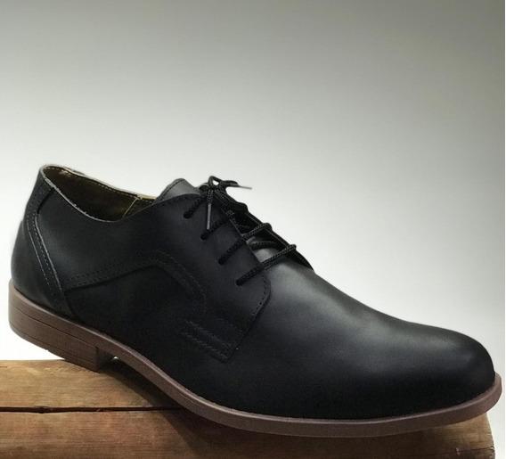 Zapato De Vestir Fino De Cuero Original Base Antideslizante