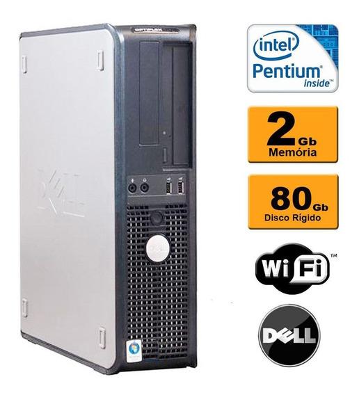 Cpu Dell Mini Optiplex Dual Core 2gb Hd 80gb Dvd Wifi Usado
