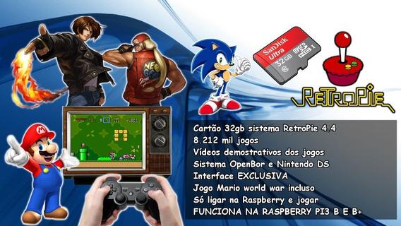 Cartão 32gb 8212 Mil Jogos Retropie