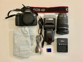Camera Canon Eos 6d Com Lente 24-105mm + Flash + Bolsa
