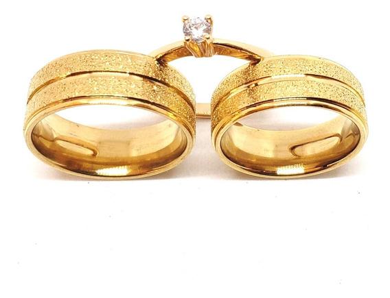 Par Alianças 8mm Casamento Noivado Cor Ouro Moedas C Acrilic
