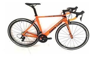 Bicicleta De Ruta En Carbono Grupo Shimano Sora Super Look