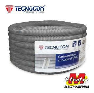 Caño Corrugado Gris 1 1/2 Sem Pesado Tecnocom Electro Medina
