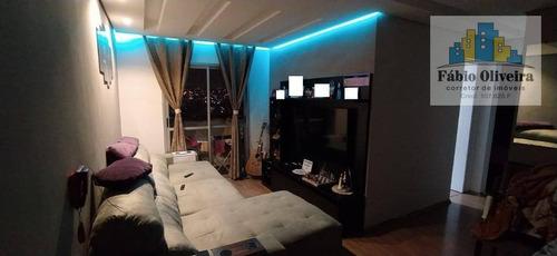 Apartamento Condomínio Residencial Adriático Com 2 Dormitórios À Venda, 54 M² Por R$ 239.000 - Jardim Do Estádio - Santo André/sp - Ap1678
