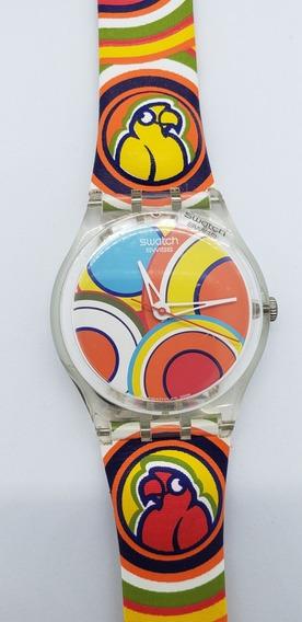 Relógio Swatch Papagaio Colorido