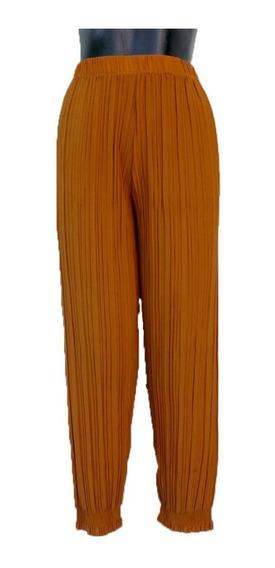 Pantalón Tableado (plisado), Ajustado En El Tobillo