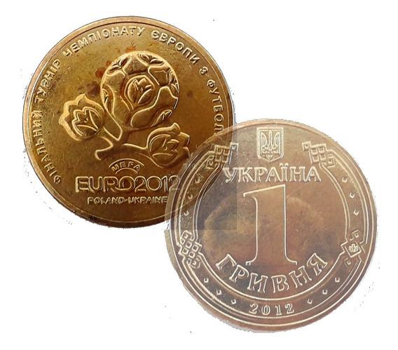 Ucrania - Moneda De 1 Hryvnia Del Año 2012 - Eurocopa 2012