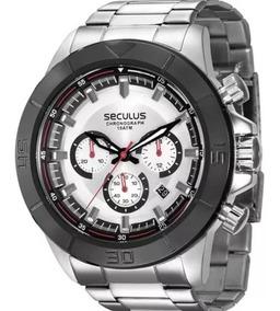 Relógio Seculus Masculino Cronógrafo 28798gpsvca1 Aço