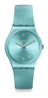 Reloj Swatch Mujer So Blue Gs160 Celeste Metalico Gent