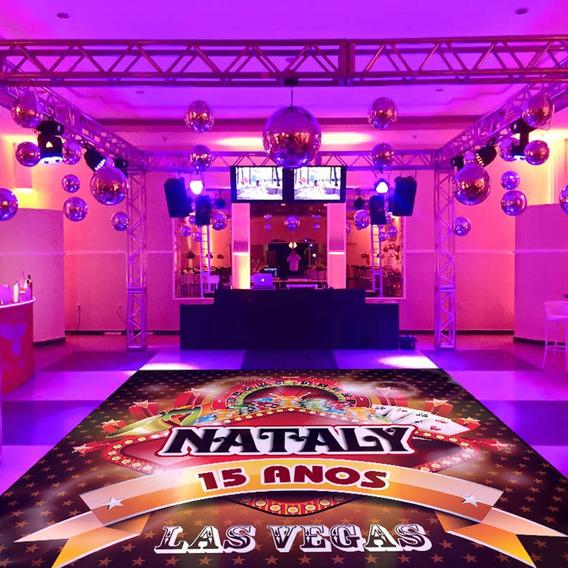 Pista De Dança Aniversário 15 Anos Las Vegas Db16 - 5x5m