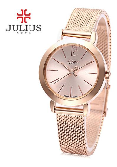Julius Ja - 732 Mulheres Quartz Relógio Aço Aço Banda Líquid