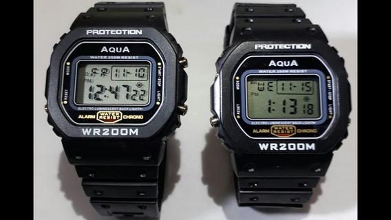 Kit 2 Relógio Aqua (modelo Novo 2019) Promoção