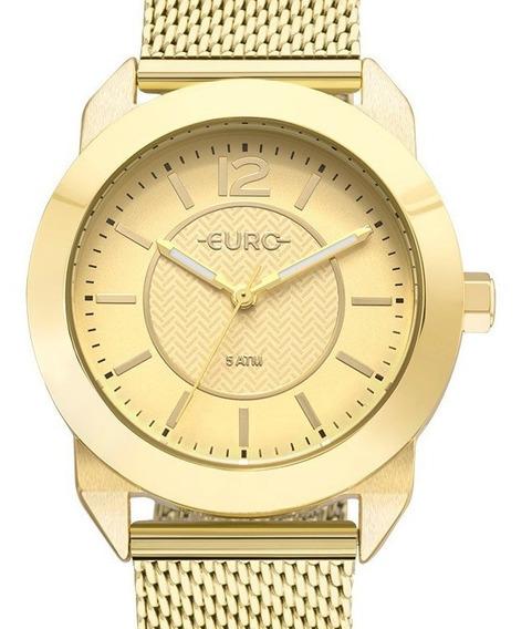 Relógio Euro Feminino Dourado - Eu2036yls/4d