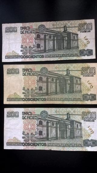 Billetes Papel Cien Pesos Grande Y Doscientos