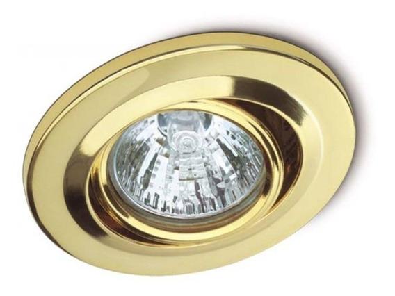Spot De Embutir Móvel Clean Dicroica Mr16 127v 50w Dourado R