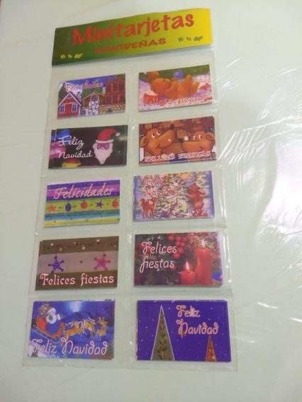 Mini Tarjetas Navideñas X 100un