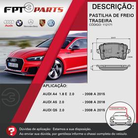 Pastilha De Freio Traseira Audi Q5 2008 A 2015 - 2.0