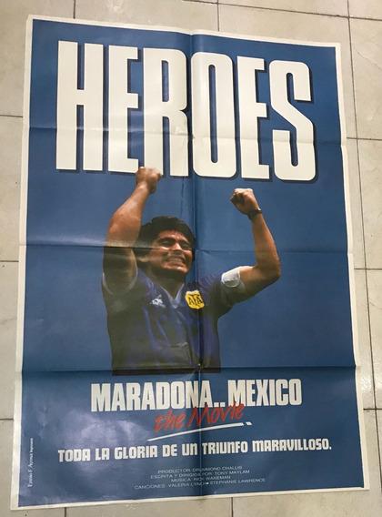 Afiche De Cine Original -heroes- Maradona- Envio Gratis