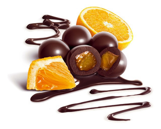 Naranja Cubiertas Con Chocolate Semiamargo Chocolart X 500gm