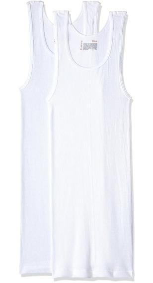 Hanes Camiseta Atlética Para Caballero P2-blanco