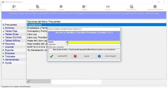 Software Para Liquidar Sueldos Y Jornales. Exporta A Libro Ley Digital (versión Demo)