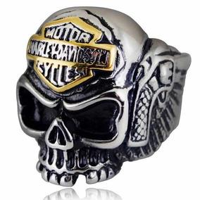 Anel Caveira Harley Davidson Aço Inoxidável Ref.hd01