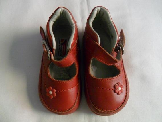 Zapatos Pocholin Rojo Para Niña