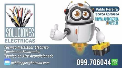 Electricista Firma Autorizada De Ute.