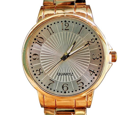 Relógio Feminino Dourado Barato Lindo Com Bateria Extra