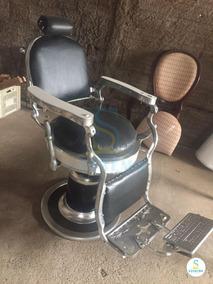 Cadeira De Barbeiro Restaurada Com Frete Grátis 12x S/ Juros
