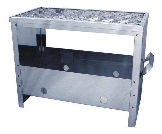 Churrasqueira De Aço Inox Portátil Metal Adm 21x41x30