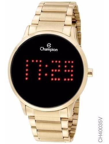 Relógio Digital Feminino Champion Dourado Ch40035v