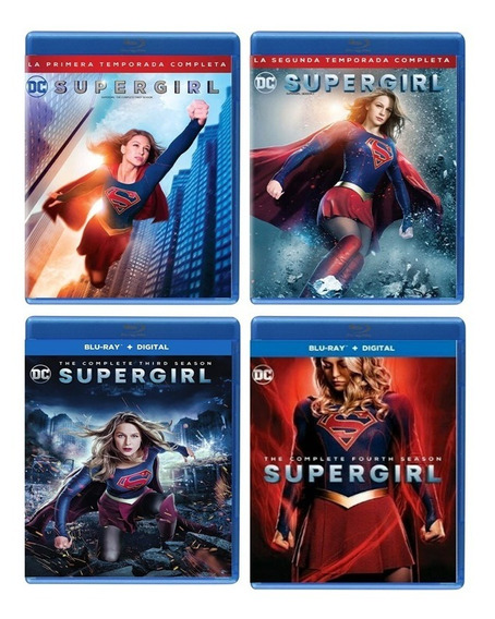 Supergirl Dc Comics Paquete Temporada 1 2 3 4 Blu-ray