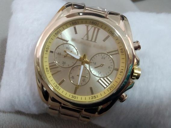 Relógio Feminino Dourado Barato Promoção