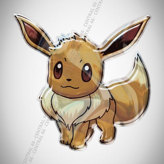 Adesivo Desenho Pokemon Eevee Resinado