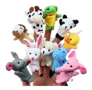 Set De 10 Titeres De Dedo Animalitos Surtidos Souveniers