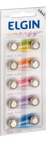 Bateria Alcalina Lr44 Cartela Com 10 82194 Elgin