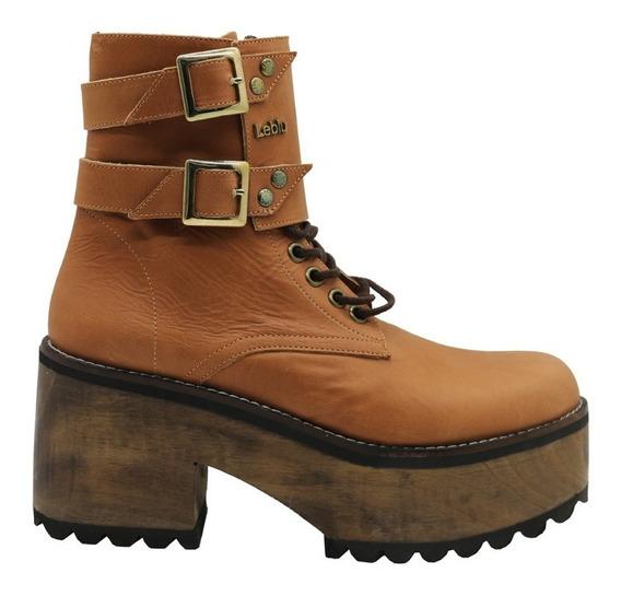 Zapatos Botas Borcegos Botitas Mujer Cuero Suela Leblu 296