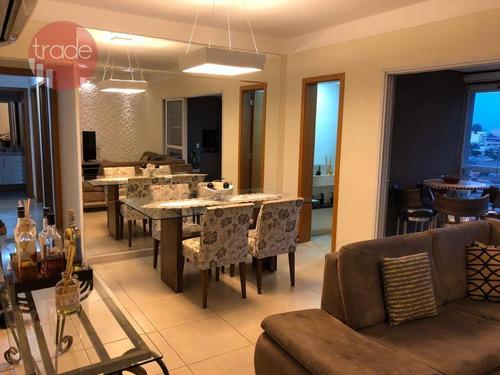 Apartamento Com 3 Dormitórios À Venda, 106 M² Por R$ 595.000 - Jardim Paulista - Ribeirão Preto/sp - Ap6090