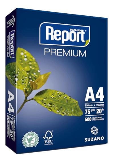 Papel Sulfite A4 75g Resma 500 Folhas Premium Report Suzano