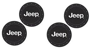 Jeep Logo Heavy Duty Rubber Coaster Juego De 4 Piezas