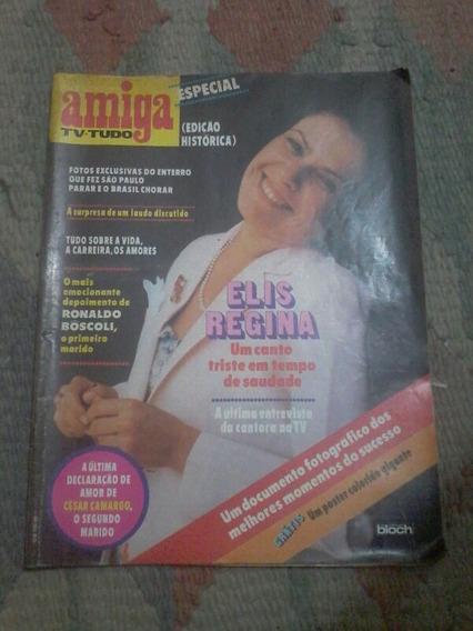 Revista Amiga Especial Elis Regina - Pôster - Ed Histórica.