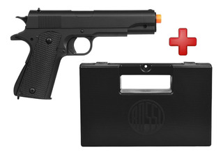 Airsoft Barata Pistola Spring M292 Colt 1911 + Case Maleta